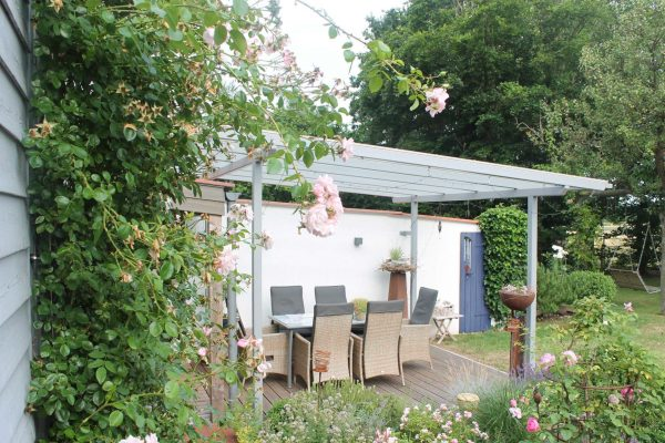 Beispiel für eine Terrassenüberdachung